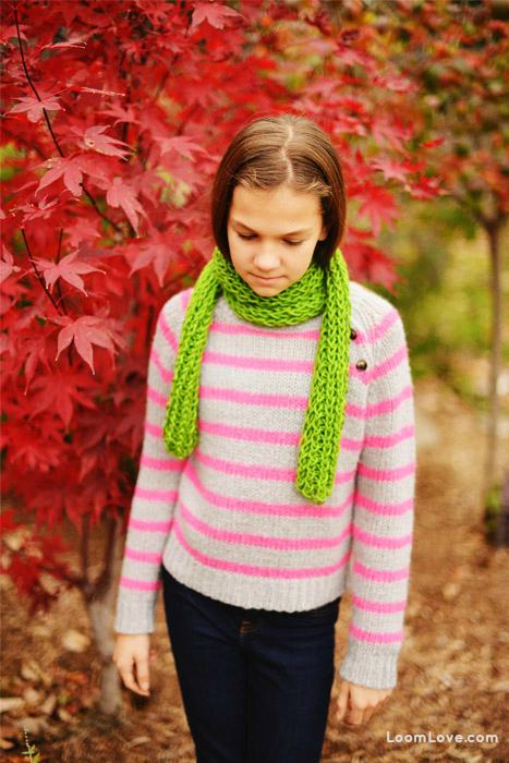 rainbow loom scarf