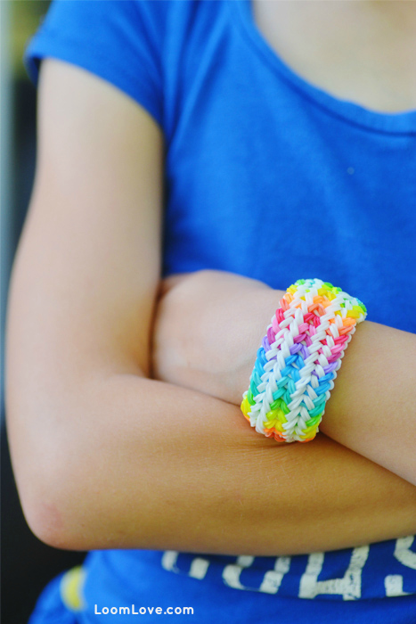 rainbow loom snake belly