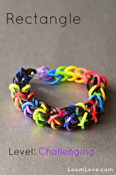 rectangle bracelet rainbow loom