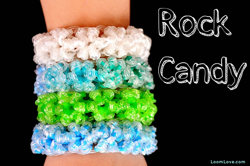 Instructions on How to Make the Rainbow Loom Rock Candy Bracelet