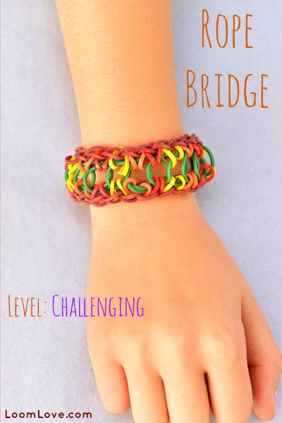 rope bridge rainbow loom
