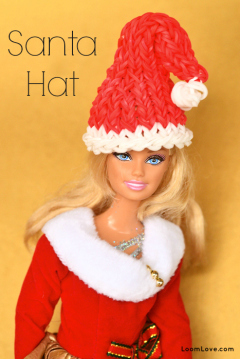 how to make a barbie santa hat by loomlove on november 15 2014 learn    Rainbow Loom Santa Hat