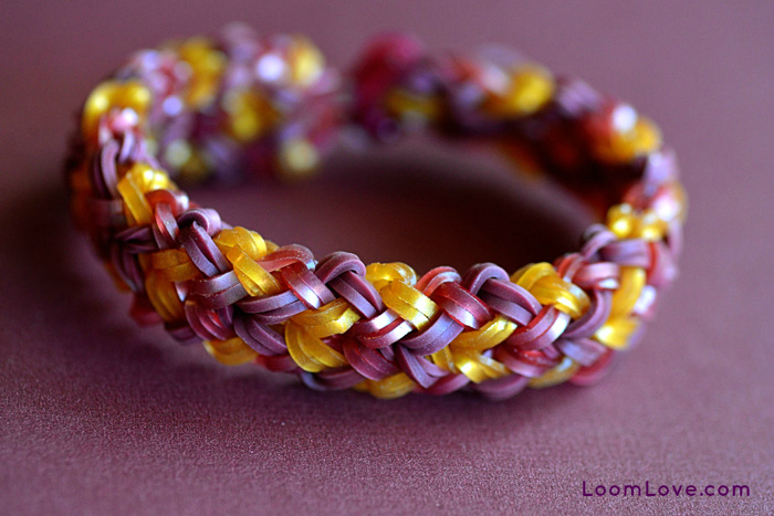 How To Basket Weave Bracelet : How to make a small basket weave bracelet