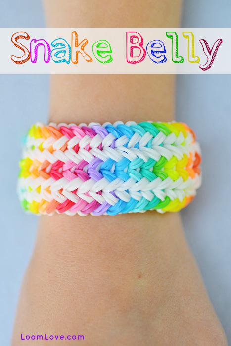 How To Make A Rainbow Loom Snake Belly