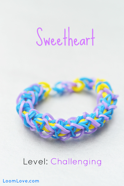 sweetheart rainbow loom bracelet