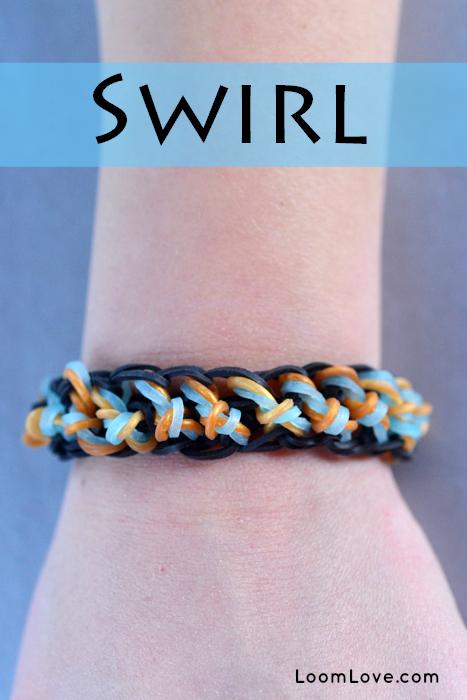 swirl rianbow loom