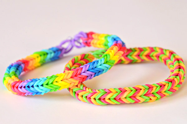Rainbow loom bracelets double fishtail
