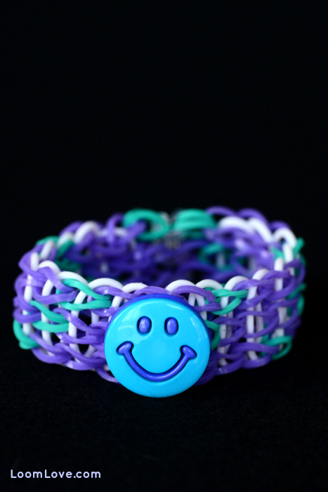 rainbow loom button