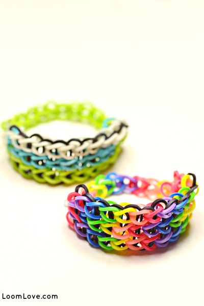 triple single rainbow loom