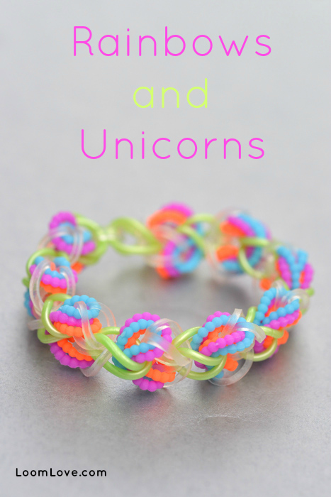 rainbows unicorns bracelet