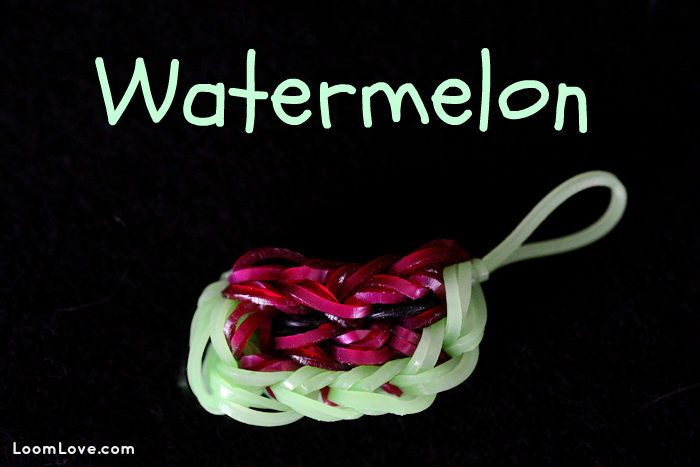 watermelon rainbow loom