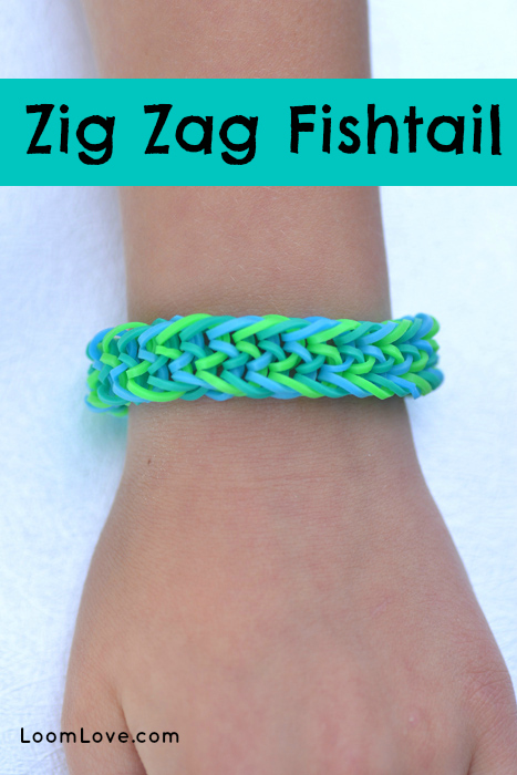 zig zag fishtail rainbow loom