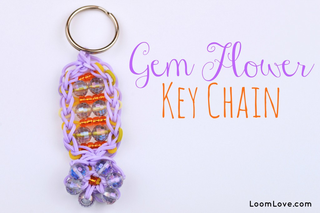 gem flower keychain