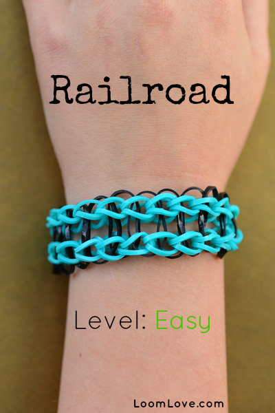 How To Make The Basket Weave Rainbow Loom : How to make a railroad bracelet